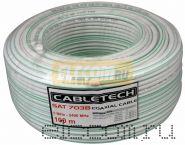 Кабель SAT 703B+CCS/AL( 75 Ом) 100м белый CABLETECH