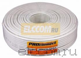 Кабель RG-6U+Cu, (48%), 75 Ом, 100м. , белый PROCONNECT