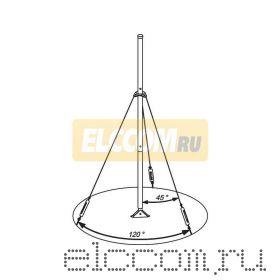Мачта для антенн алюминиевая 600см