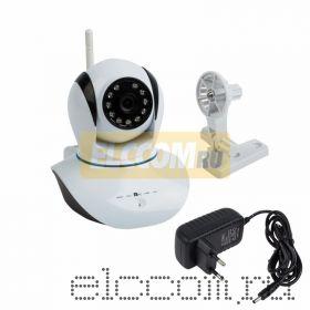 Беспроводная поворотная камера WiFi Smart 1. 0Мп, (720P), объектив 3. 6 мм. , ИК 10 м