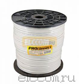 Кабель Видеонаблюдения КВК-В + 2х0.75мм? (96) 200м серый PROCONNECT
