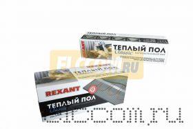 Тёплый пол (нагревательный мат) REXANT Classic RNX -8, 0-1200 (площадь 8, 0 м2 (0, 5 х 16, 0 м)), 1200 Вт, двухжильный с экраном
