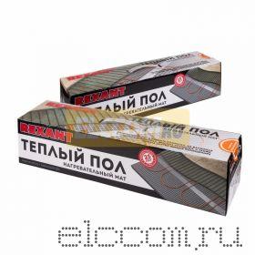 Теплый пол (нагревательный МАТ) REXANT Extra, площадь 8, 0 м2 (0, 5 х 16, 0 метров), 1280Вт, (двух жильный)