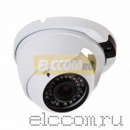 Купольная уличная камера IP 2. 1Мп Full HD (1080P), объектив 2. 8- 12 мм. , ИК до 30 м. , PoE + Звук
