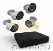 Комплект видеонаблюдения на 4 наружные камеры AHD-M (без HDD) ProConnect