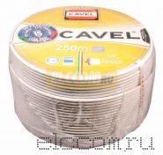 Кабель SAT 703B+CU/CU(75 Ом) 250м белый CAVEL