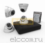Комплект видеонаблюдения на 4 внутренние камеры AHD-M (с HDD-1Tб) ProConnect