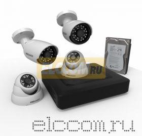 Комплект видеонаблюдения на 2 внутренние и 2 наружные камеры AHD-M (с HDD-1Tб) ProConnect