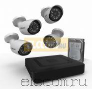 Комплект видеонаблюдения на 4 наружные камеры AHD-M (с HDD-1Tб) ProConnect