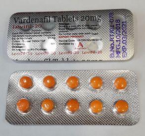 Препарат для потенции Levifil-20,vardenafil-20mg-10 таб