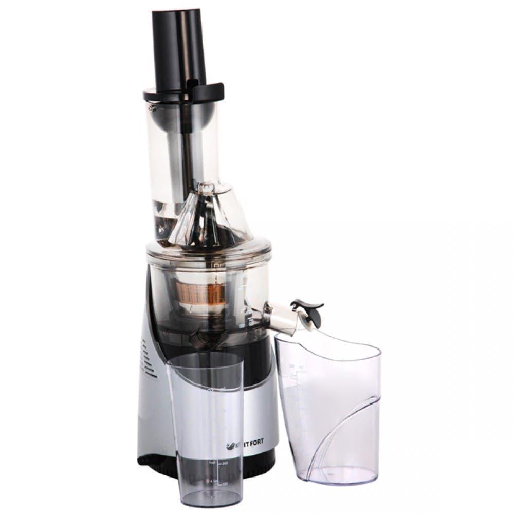 Шнековая соковыжималка KitFort КТ-1105-2 серебристый металлик
