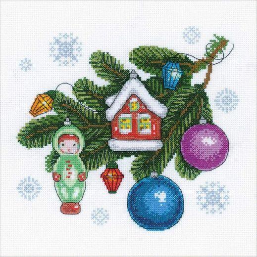 Набор для вышивания крестом Любимые игрушки №1596 фирма Риолис