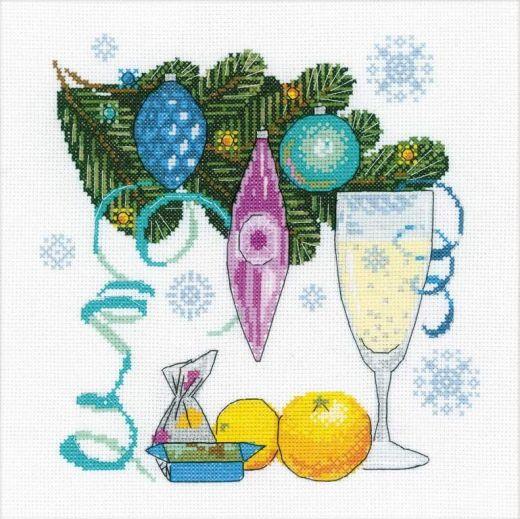Набор для вышивания крестом С Новым годом! №1597 фирма Риолис