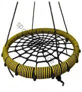 """Подвесные качели """"гнездо"""" диаметром 80 см KIDGARDEN желтый"""