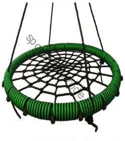"""Подвесные качели """"гнездо"""" диаметром 100 см KIDGARDEN салатовый"""