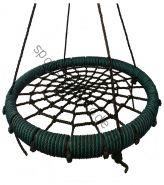 """Подвесные качели """"гнездо"""" диаметром 115 см KIDGARDEN зеленый"""