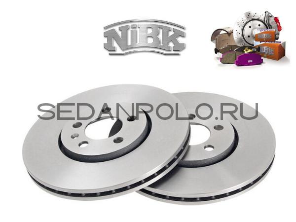 Диски тормозные передние NIBK Polo Sedan/Rapid CWVA/CZCA 110/125 л.с