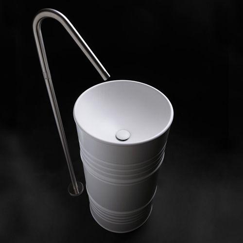 Раковина напольная Kerasan Artwork Barrel White