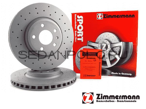 Диск тормозной передний OTTO ZIMMERMANN Polo Sedan/Rapid CWVA/CZCA 110/125 л.с