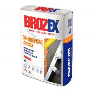 Штукатурка цементная универсальная М-100 УНИВЕРСАЛ Brozex 25кг