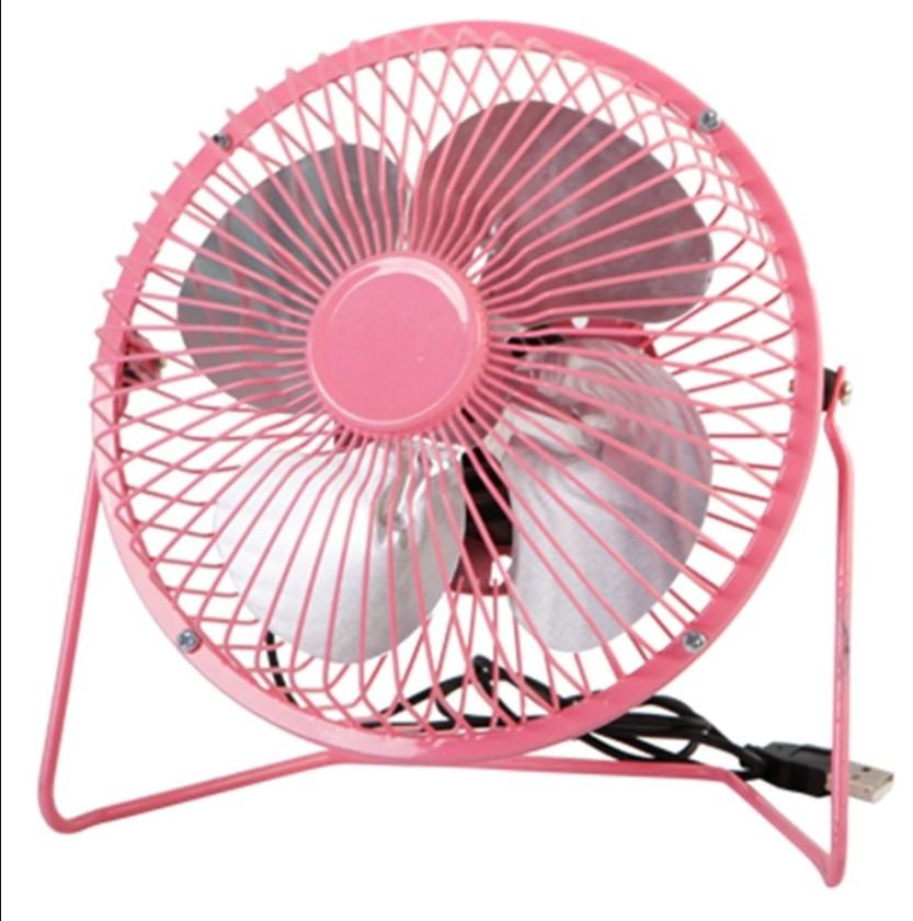 Настольный металлический USB-вентилятор Mini Fan, цвет Розовый