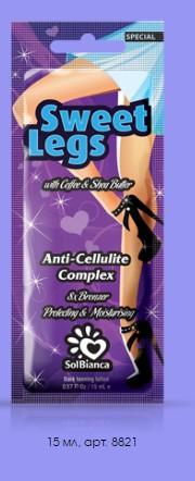 Крем для солярия Sweet Legs 8х bronzer, 15 мл. (для ног)