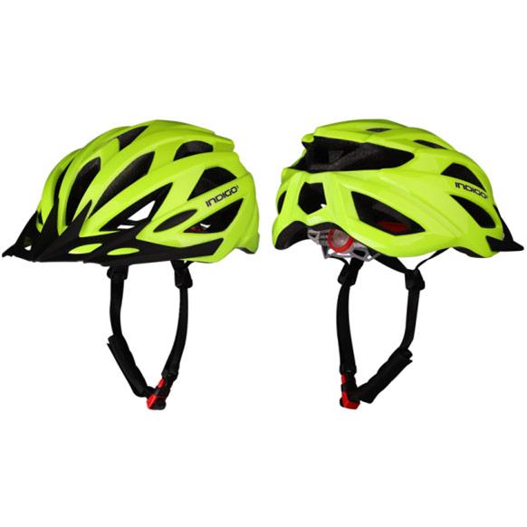 Шлем велосипедный взрослый INDIGO IN069 55-61см салатовый