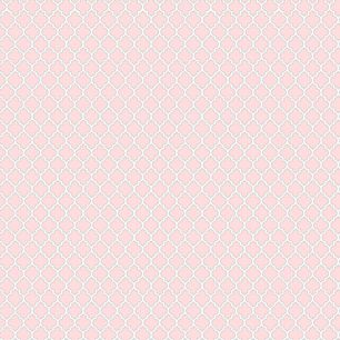 Хлопок Сатин Узор на розовом