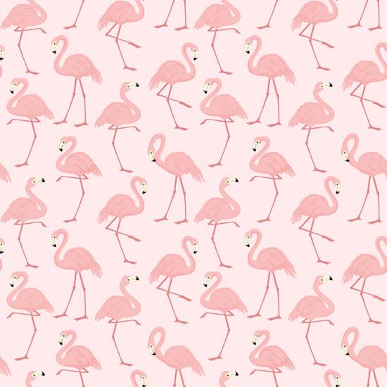 Хлопок Перкаль Фламинго