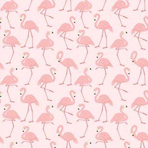 Хлопок Перкаль Фламинго 50х37