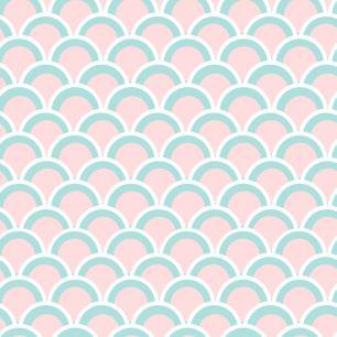 Хлопок Перкаль Розовые чешуйки 50х40