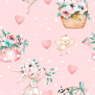 Хлопок Перкаль Цветы в саду 50х37
