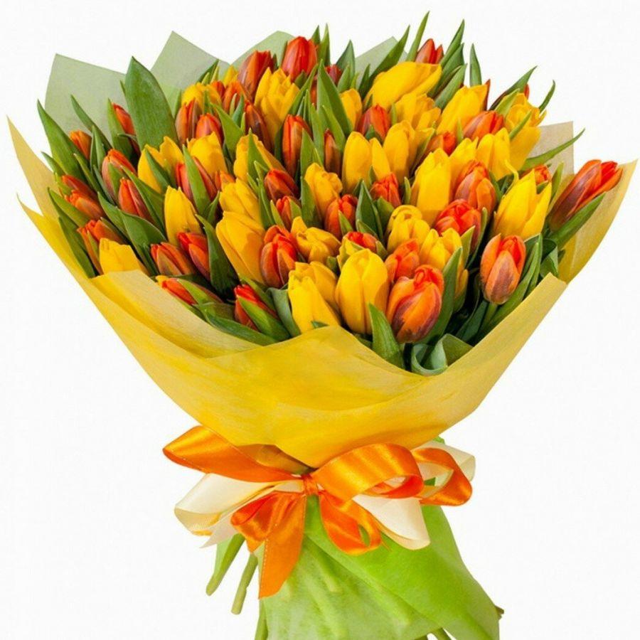 Тюльпан 51 шт (яркий микс)
