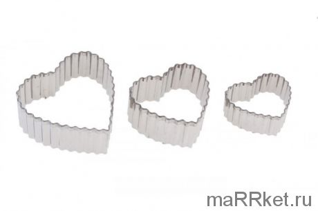 Кондитерские формы для вырубки печенья из теста Cookie Cutter, 3 шт