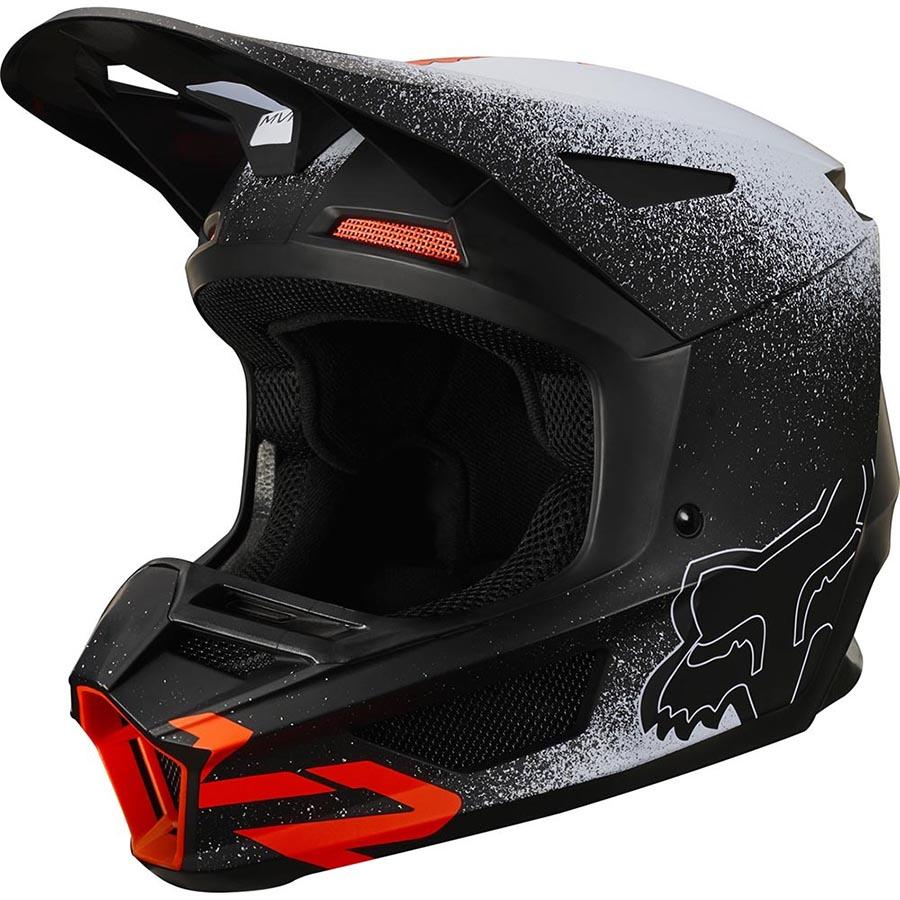 Fox V2 BNKZ Special Edition Youth Black подростковый шлем для мотокросса