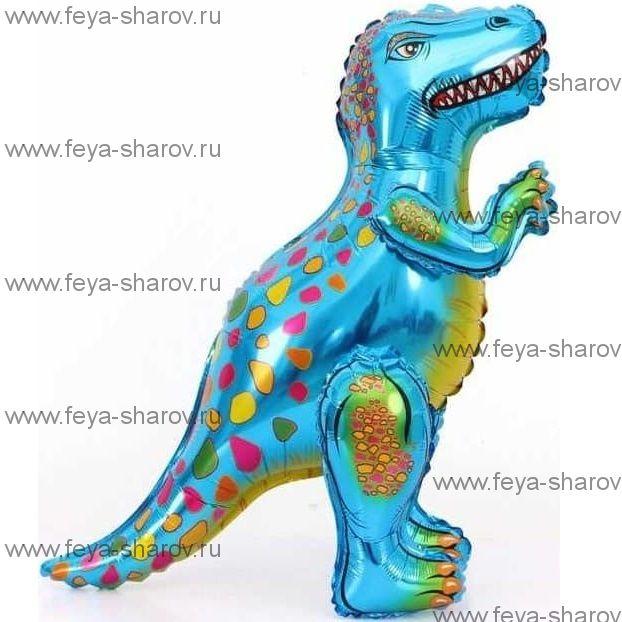 Шар Динозавр Аллозавр 66 см Голубой