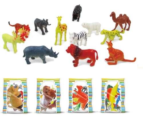 """1toy """"Мелочь, а приятно"""" набор животные в дисплее 10 в пакете, 12 шт в ассортименте"""