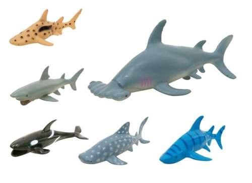 """1toy """"Мелочь, а приятно"""" акула в дисплее,  12 шт - 16 см в ассортименте"""