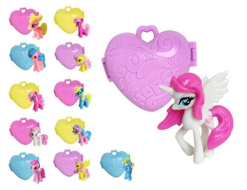 1toy Мелочь, а приятно мини-пони с сердечком, в дисплее, 12 шт в ассортименте