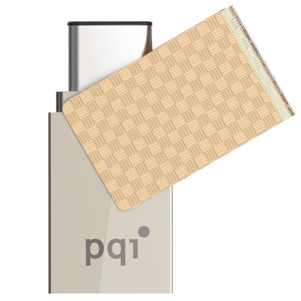 64GB USB3.1-флеш-накопитель PQI iConnect 313 (Type C) Золотой
