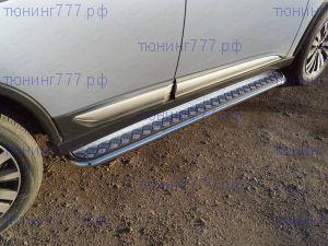 Боковые подножки ТСС, площадка алюминий, труба сталь ф 42мм