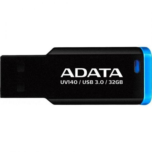 32GB USB3.0-флэш накопитель ADATA  UV140 синий зажим