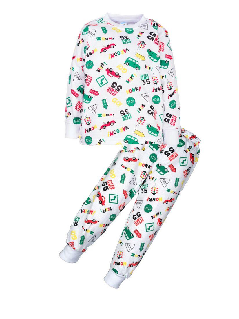 Пижама с начесом для мальчика Траспорт