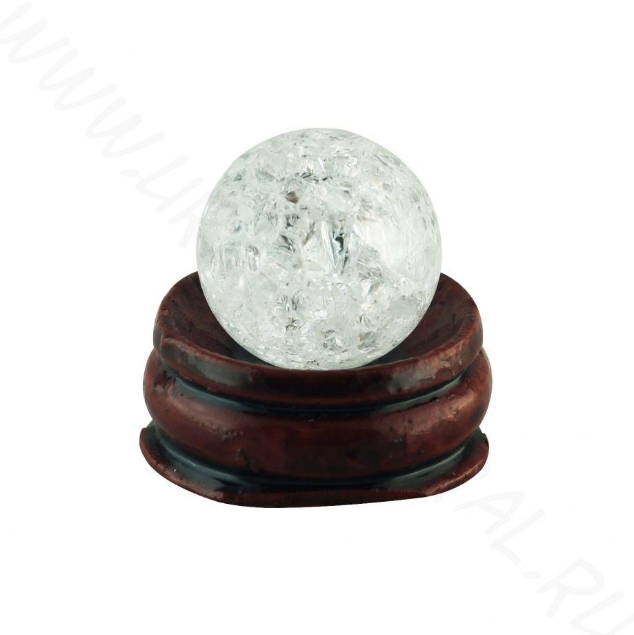 Шар (20 мм) - Горный хрусталь (сrackled)