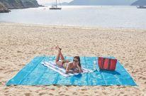 Пляжный коврик SAND FREE MAT, 200х150 см, голубой