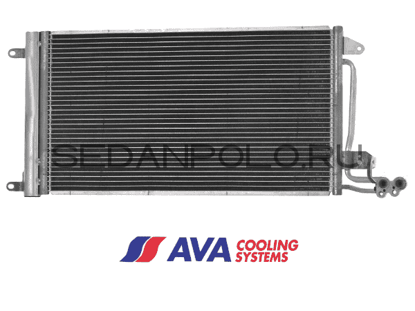 Радиатор кондиционера AVA Volkswagen Polo Sedan/Skoda Rapid