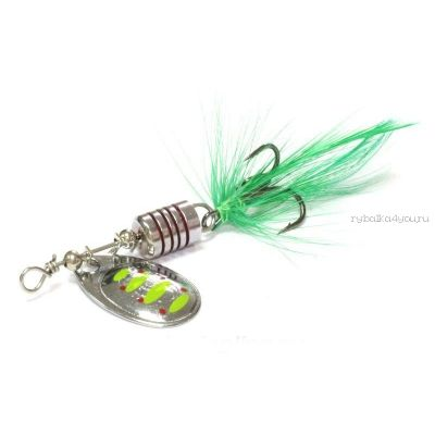Блесна вращающаяся Sprut Makuro Spinner #2 / 4,5 гр / цвет: STR-GR