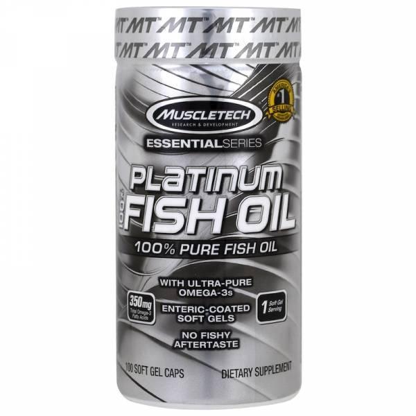Muscletech Рыбий жир Platinum 100% 100 мягких гелевых капсул