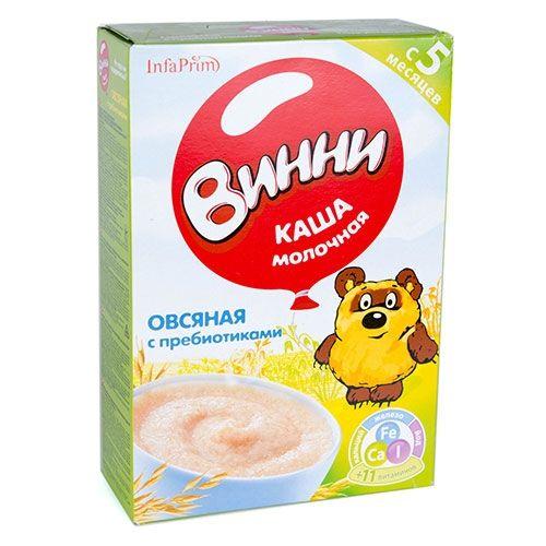 Каша Винни 200г Молочная Овсяная+пребиот., д/дет.с 5мес.