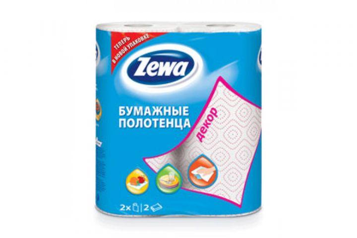 Полотенца бумажные Zewa 2шт Декор втулка
